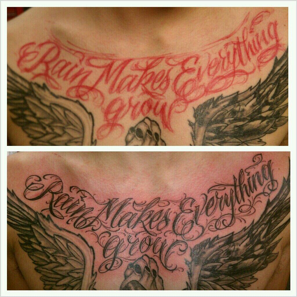 Tatouage homme torse - Tatouage Phrase Torse Et Cou Homme Tattoomoi Com Tot6e3417