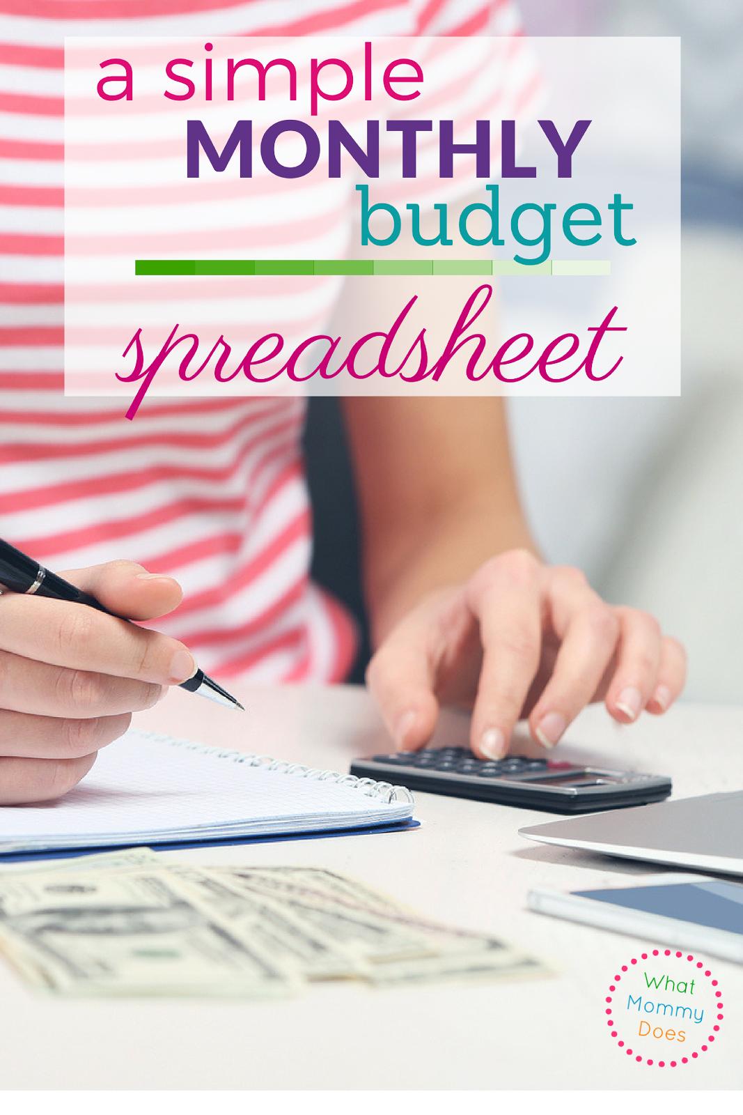 Sample Monthly Expenses Spreadsheet