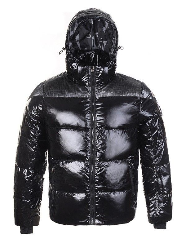 Moncler Top Quality Men Down Jackets Stuffing Wool Hat Black Cheap Moncler  Jackets Outlet Store