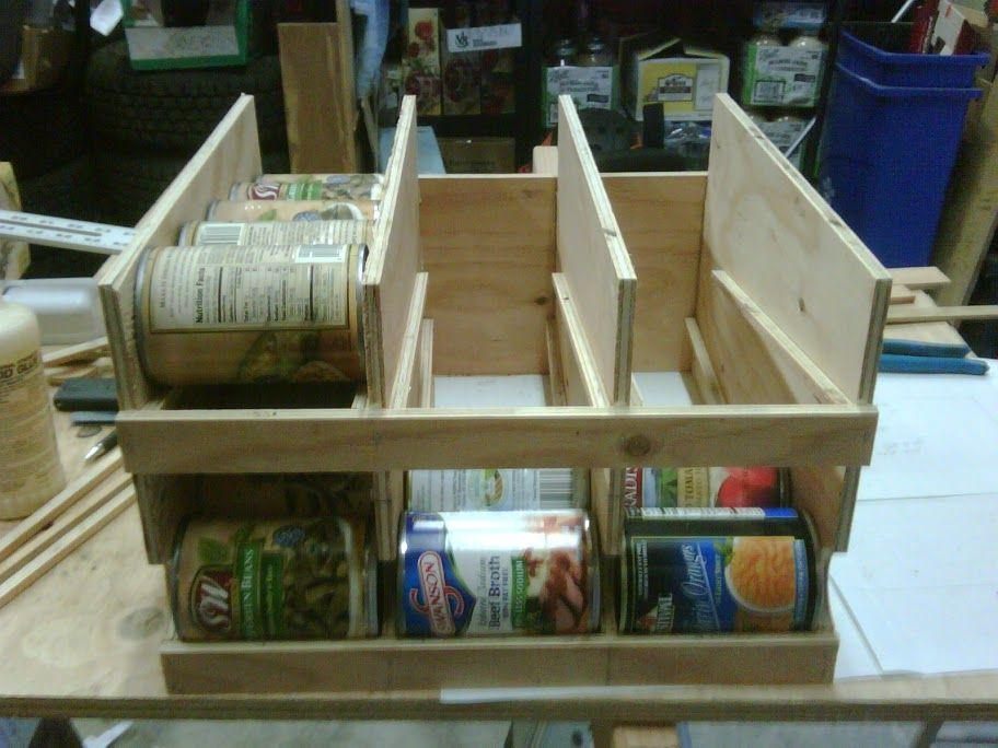 Fifo Can Organizer Diy How To S Lessons Shtf