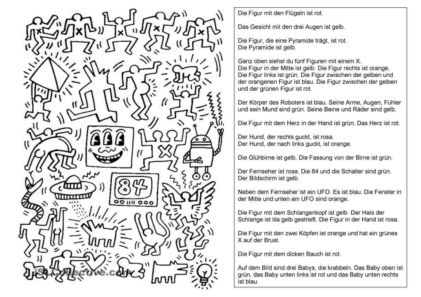 Keith Haring | Schule | Pinterest | Keith haring, Worksheets and Art ...