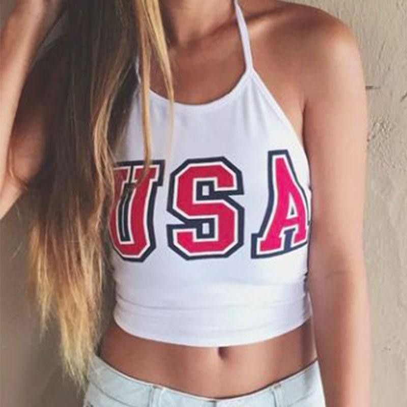 8f33bfd1d9 Halter Neck Crop Top Tumblr Sleeveless. Halter Neck Crop Top Tumblr  Sleeveless Fourth If July Outfits ...