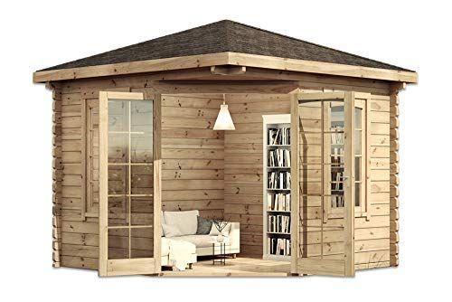 ᐅ TOP Alpholz Modernes 5Eck Holz Gartenhaus Victor mit