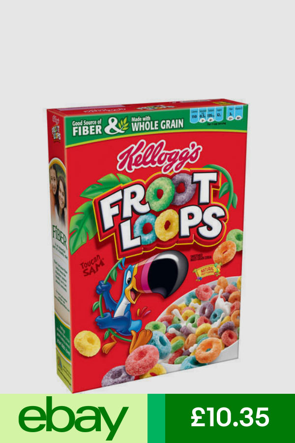 Kellogg S Froot Loops Sweetened Multi Grain Cereal 417g 14 7oz Cereal American Cereal Froot Loops
