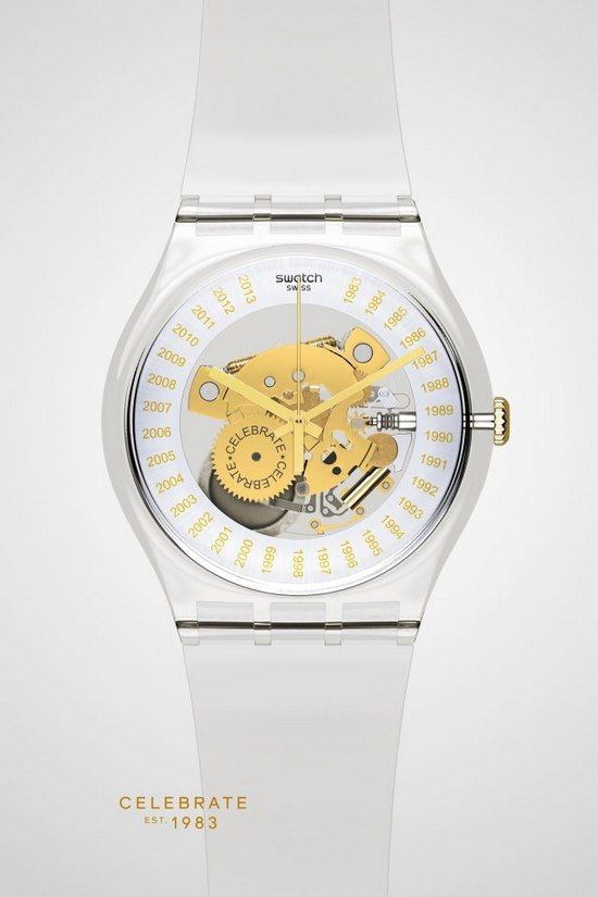 615bb886cf0 Swatch  30th Anniversary Special Edition Transparent Watch  Swatch Est.  1983.