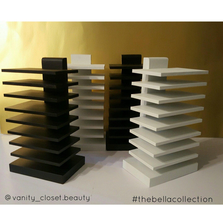 Beautiful black and white palette holder handmade