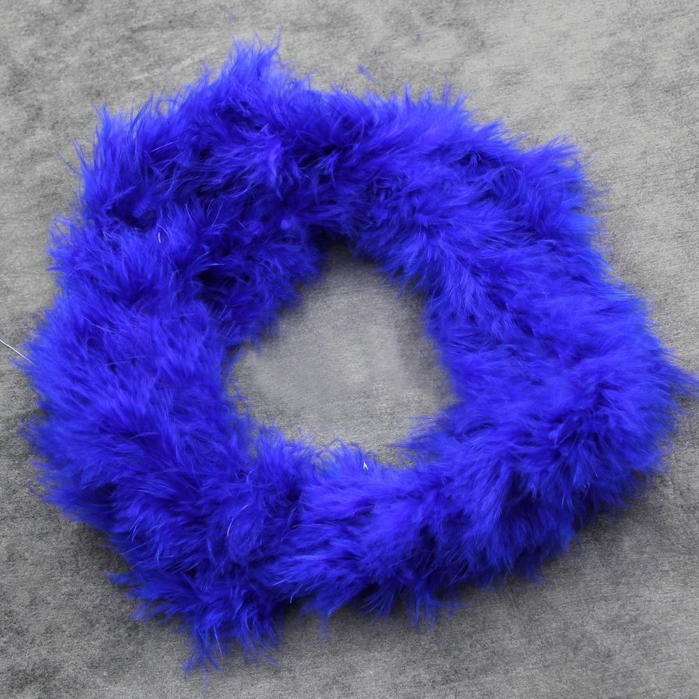 Photo of 2M Feather Boa Strip Fluffy Craft Costume Hen Night Dressup Wedding Fancy Party – Dark Blue
