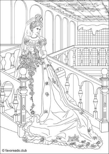 Fashion And Style Wedding Dress Coloring Page Colorful Art Coloring Pictures Fashion Coloring Book