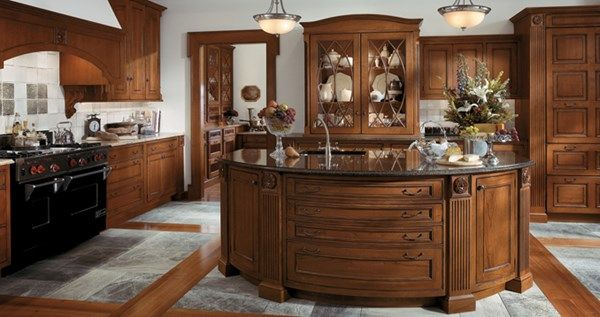 Wood Mode Cabinetry Classic elements including an eyebrow ...
