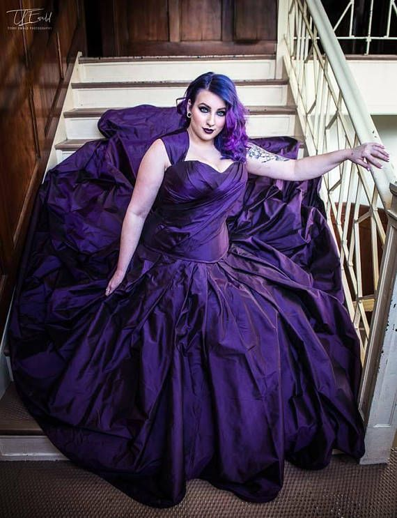 Purple Wedding Dress Gothic Wedding Dress Alternative Bridal Gown