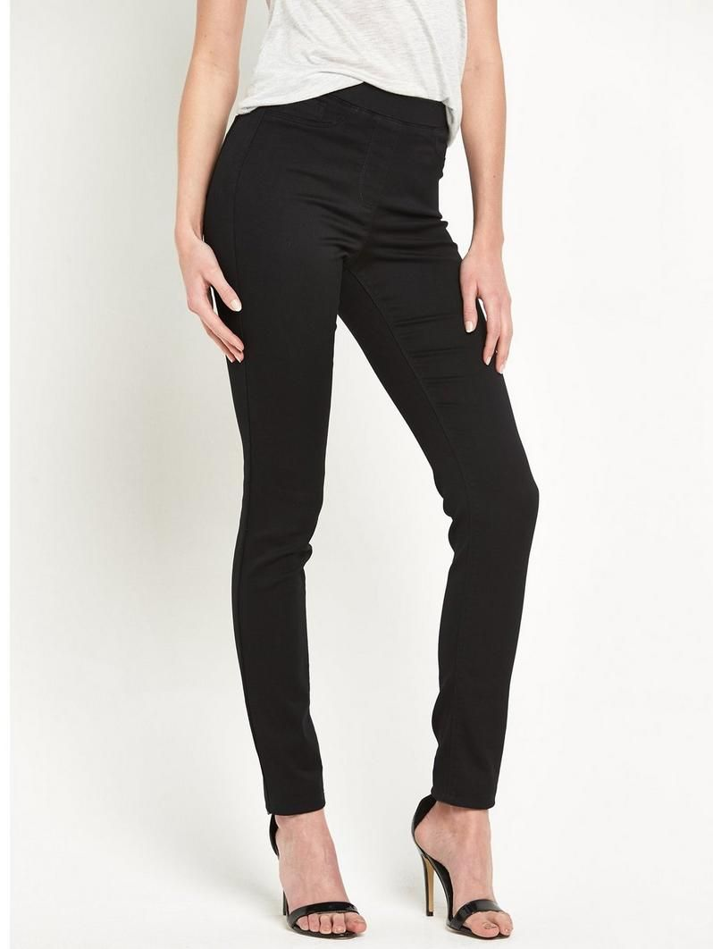 V by Very Charley High-Waist Jeggings Sleek styles and comfy chic are what's on offer with these Charley high-waist jeggings from V by Very! You can rock their pin-perfecting cut from day to dark thanks to a stretchy waist and supersoft fabric, while the high rise makes the most of your curves. Styling Ideas Try swapping your ballet flats for killer heels to take your look from coffee to cocktails.Washing Instructions: Machine WashableWomens Jeans Shape: Skinny