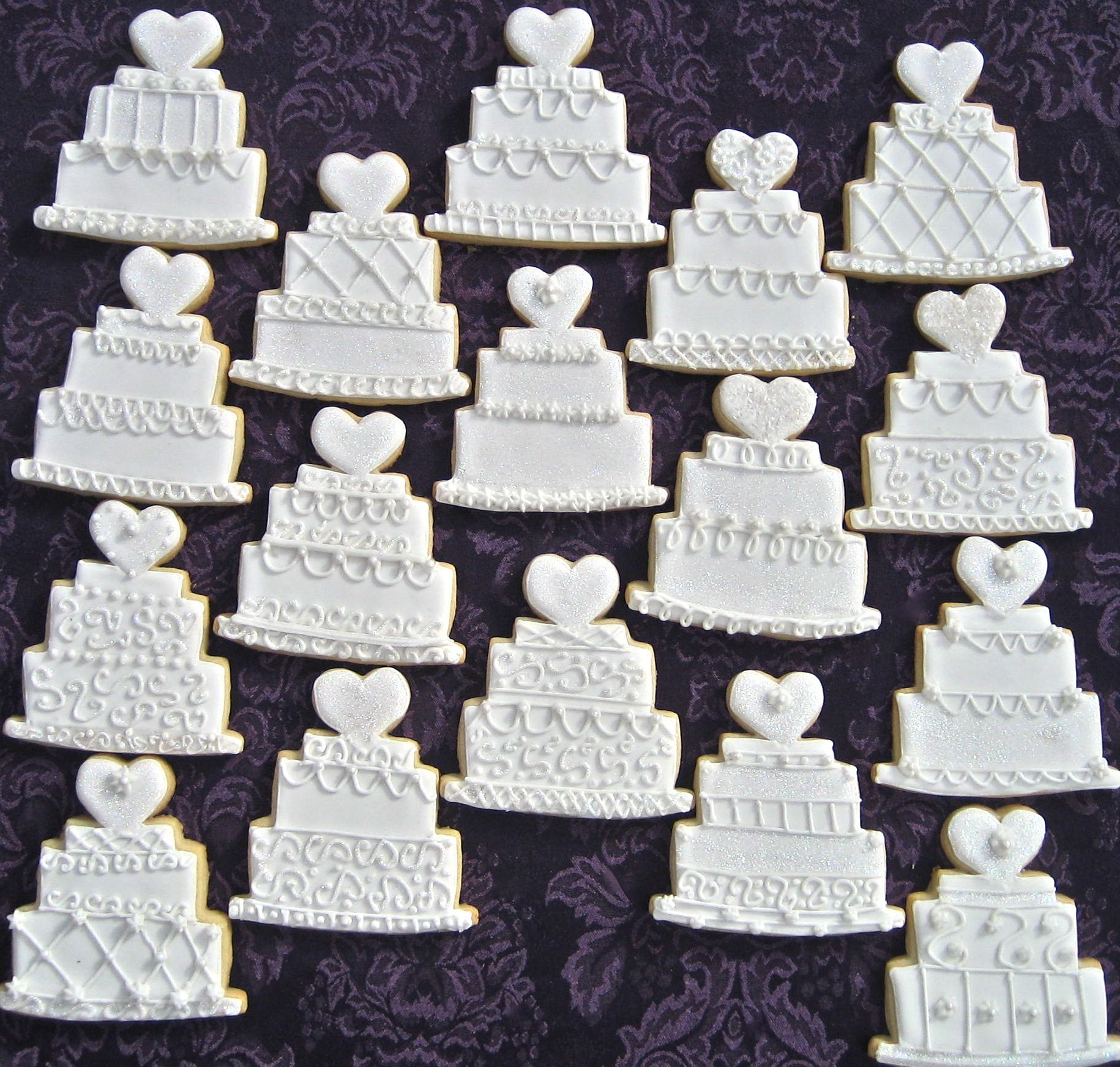 Big A Little A On WordPress Com Wedding Cake Cookies Bridal Cookies Wedding Cookies Decorated