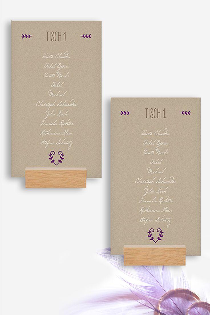Kraftpapier look im angesagten vintage stil mit der gruppentischkarte rustic love