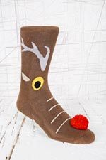 Christmas Reindeer Slipper Socks at Urban Outfitters