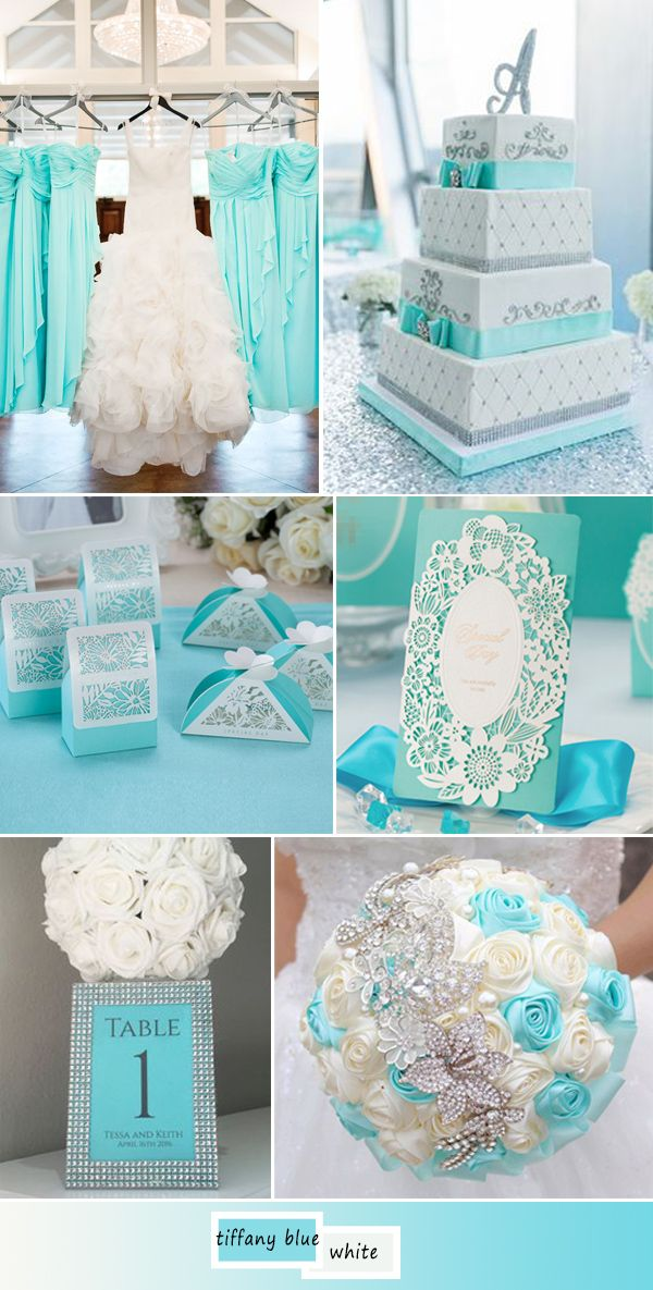 inexpensive tiffany blue laser cut lace wedding ...
