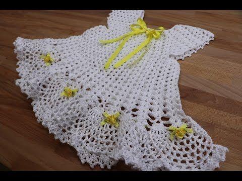 VESTIDITO DE ABANICOS - Tejido a gancho fácil y rápido - Tejiendo con LAURA  CEPEDA - YouTube. Crochet Llamas - Vestido Crochet para Niña de 18 meses ... 3112df91c902
