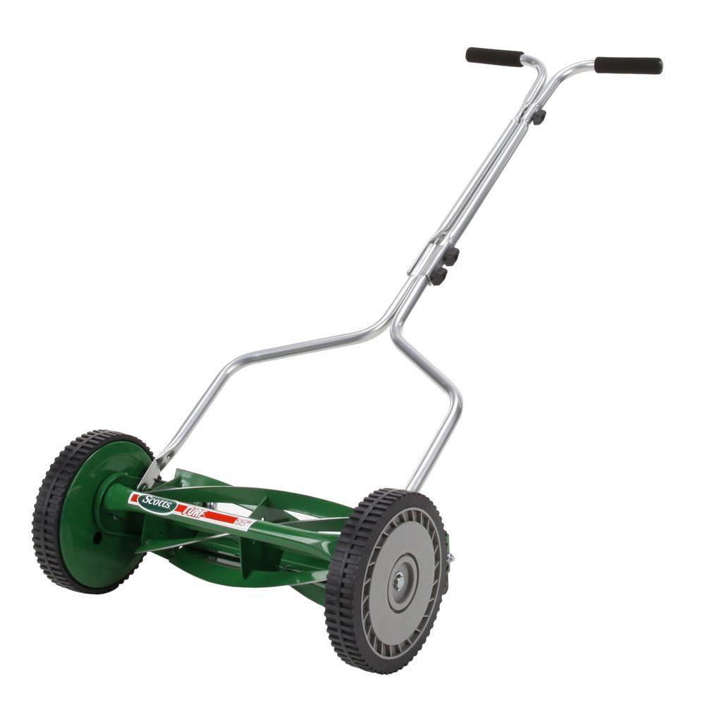Scotts 14 In 5 Blade Manual Walk Behind Reel Mower 304 14s Reel Mower Push Lawn Mower Grass Cutter