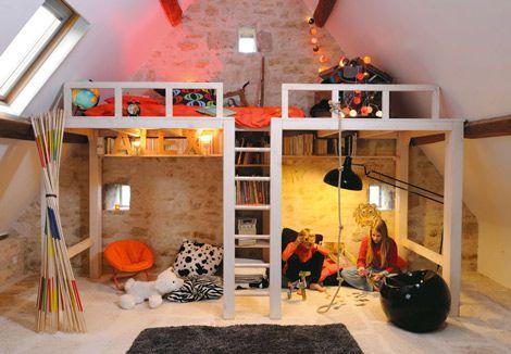 Proyecto decoración Ahorrar espacio con una cama elevada Camas