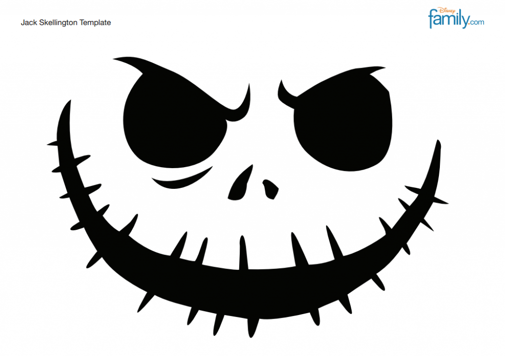 Jack Skellington Template Jack skellington pumpkin
