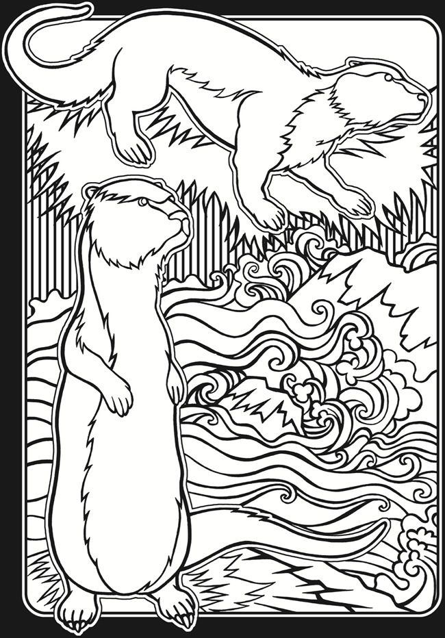 Welcome to Dover Publications - In the Wild Stained Glass Coloring ...