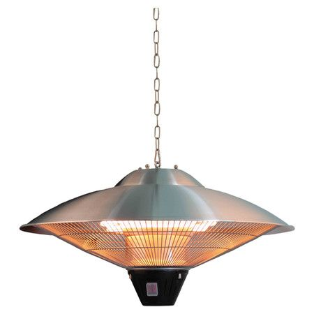You Should See This Hanging Electric Patio Heater In Stainless