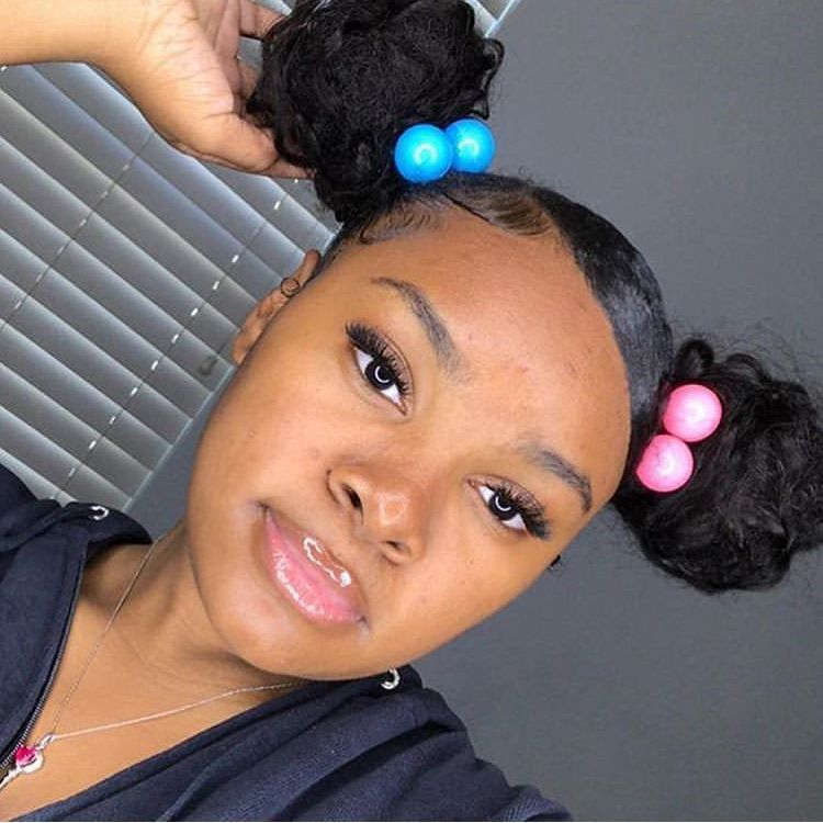 Gangshit9090 Follow Me For More Clip Hairstyles Sleek Bun