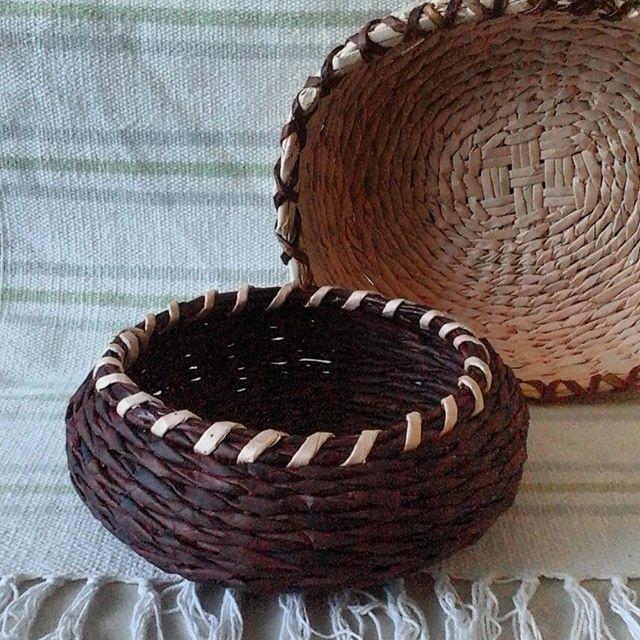 ¿Cuál te gusta más ? #ecological#hechoencolombia#mixmedia#hechoamano#basketry#cestas#homemade#homedecor#organic