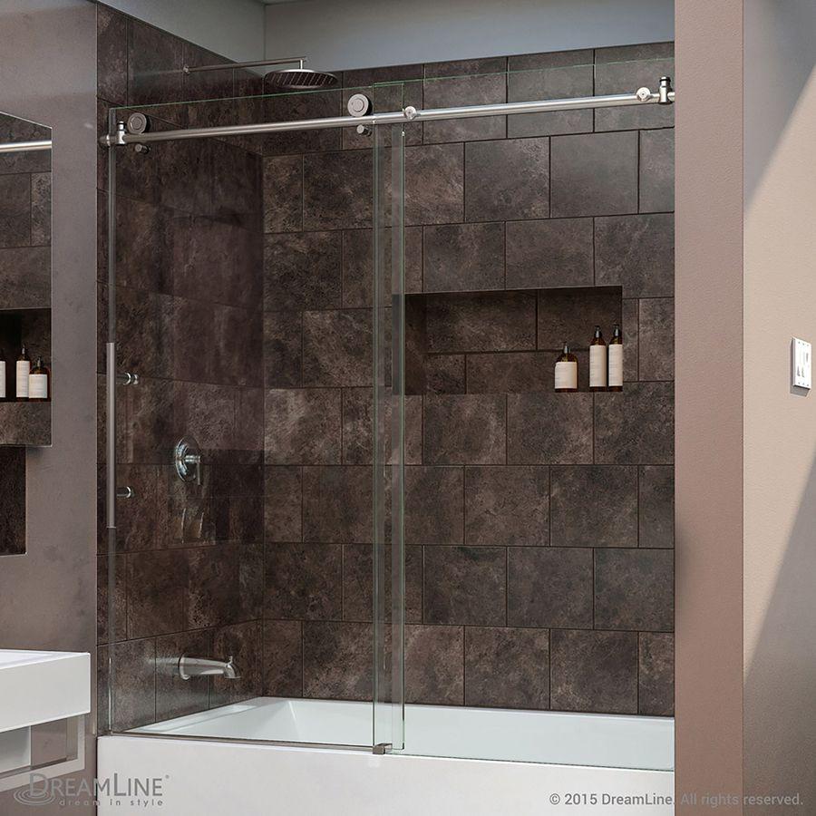 glass door for bathtub. DreamLine Enigma-X 59-in W X 62-in H Frameless Bathtub Door Glass For
