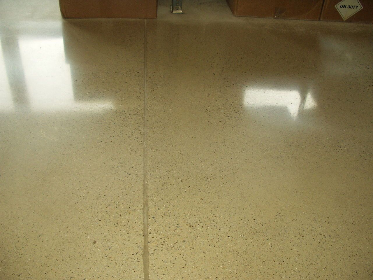 Polished concrete provides visual elegance as well as durability in