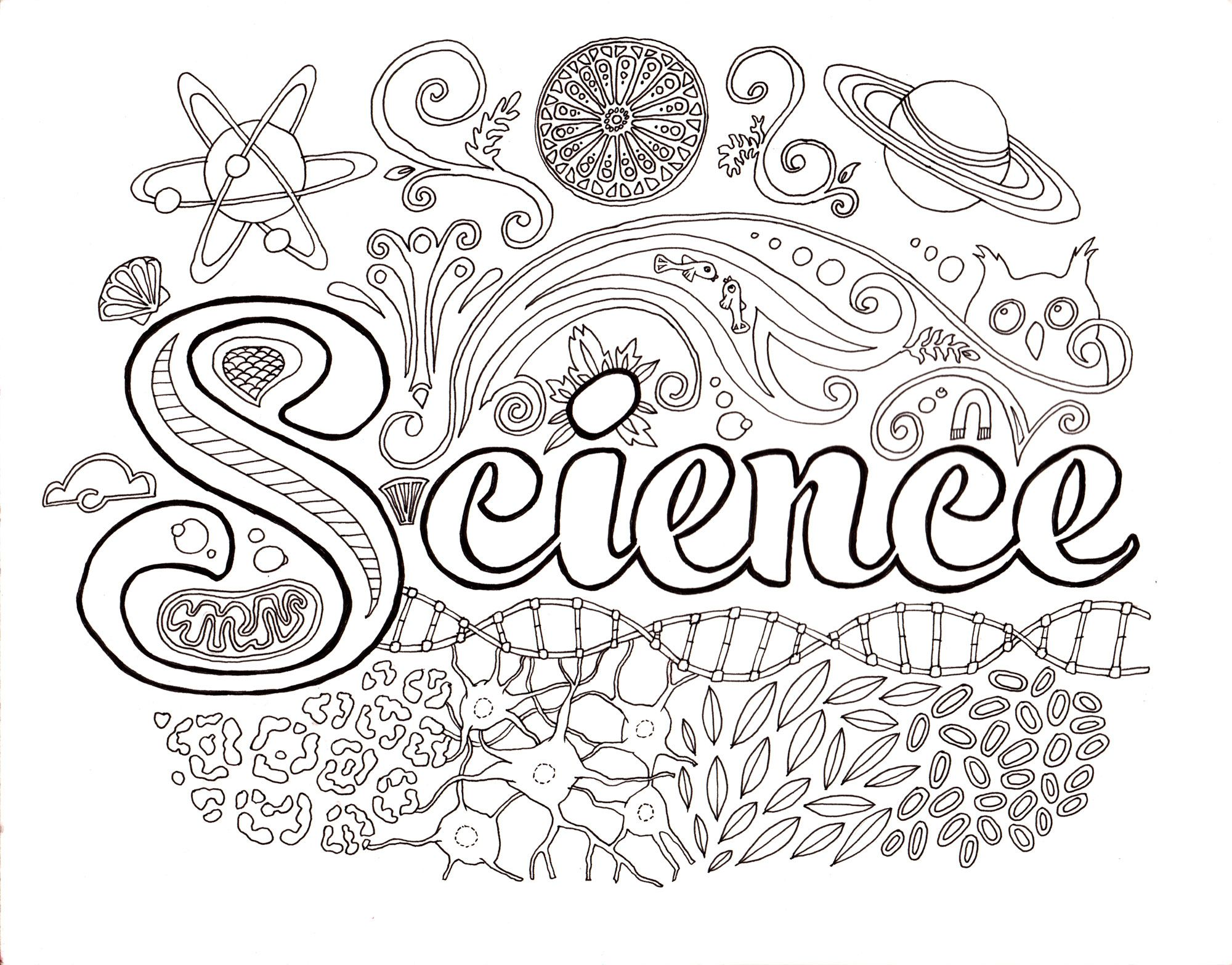 science coloring page getcoloringpagescom | science | Pinterest ...