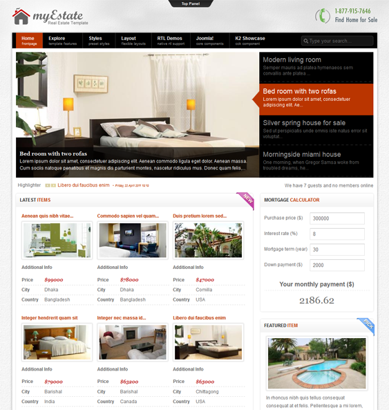 This Real Estate Joomla Template Includes A Responsive Layout A