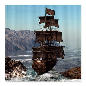 Pirate Ship Land Ahoy Beach Towel