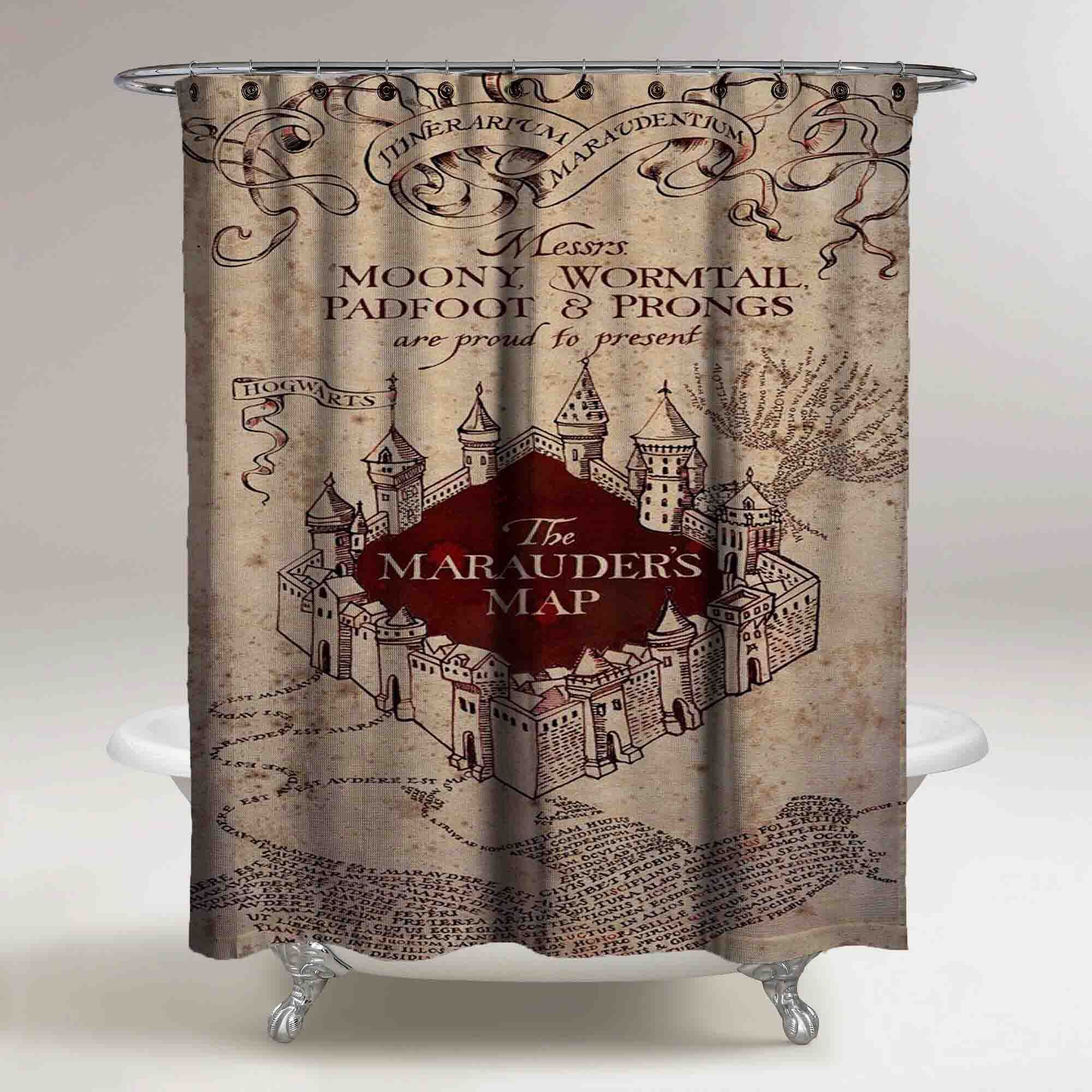 The Marauders Map Harry Potter Custom Shower Curtain Print On