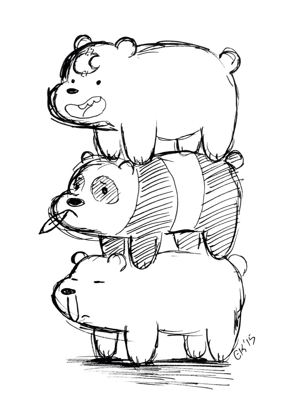 Image Result For We Bare Bears Coloring Pages