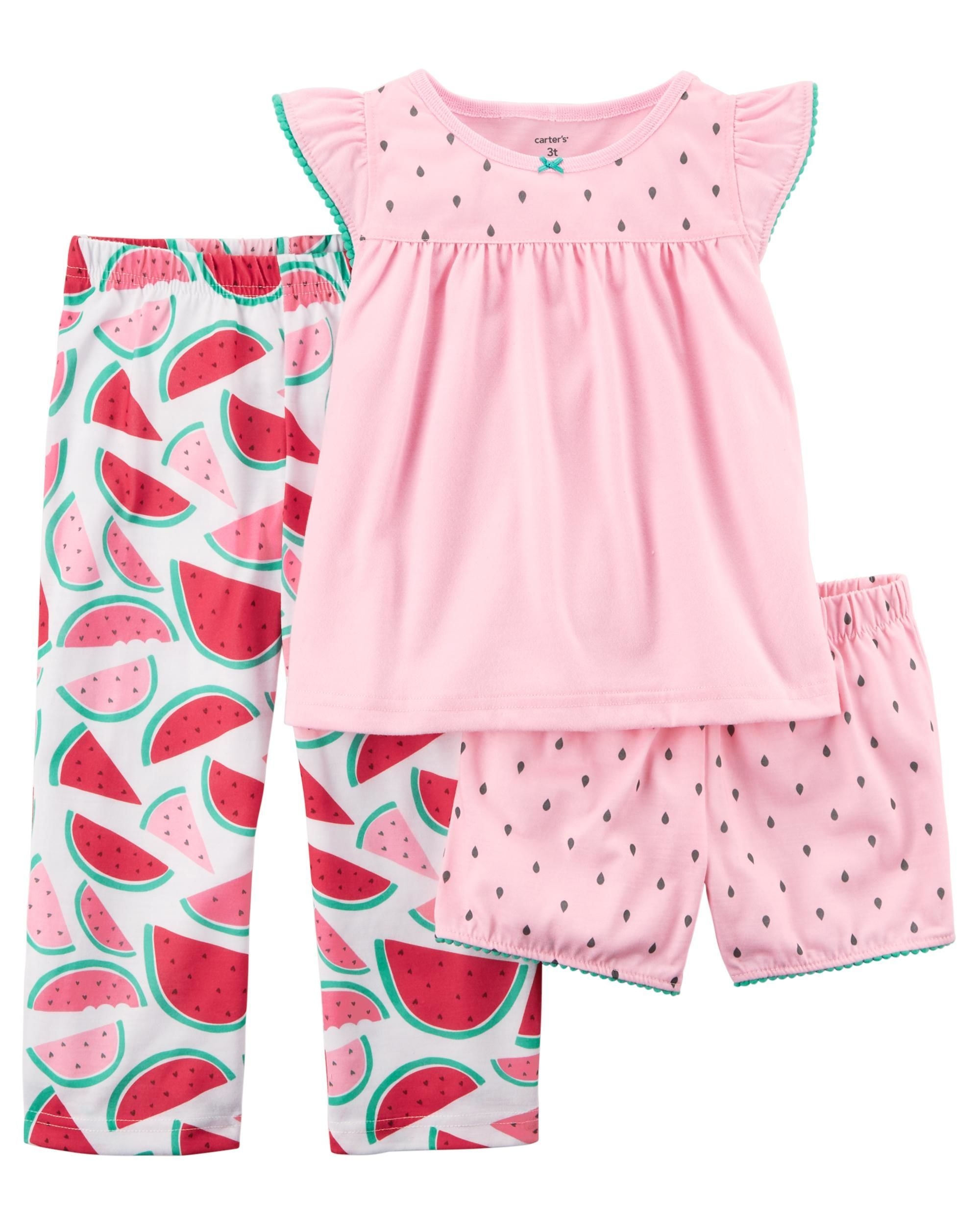 Carters Baby Girls 3-Piece Poly