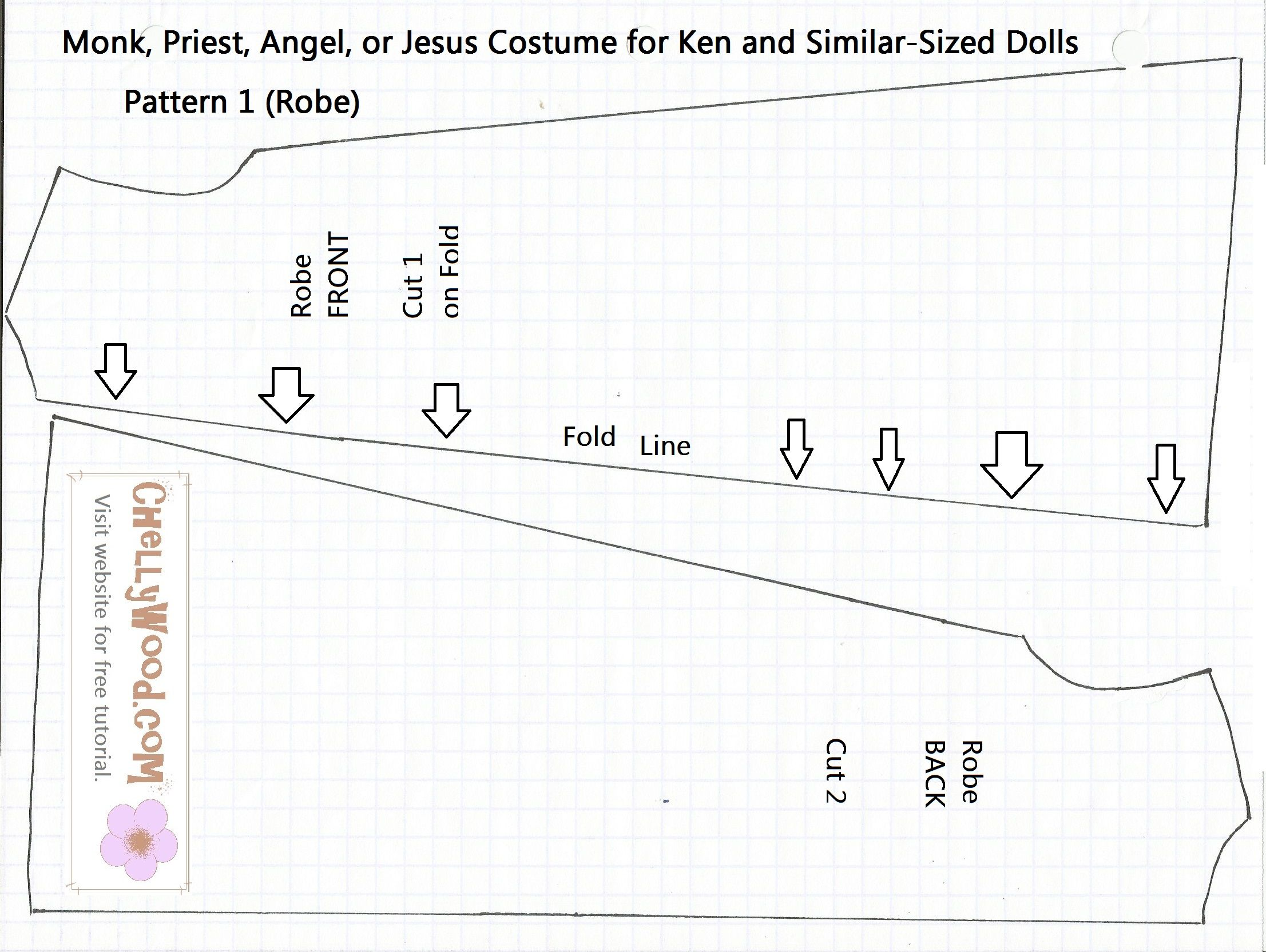 Catholic priest costume doll pattern fits Ken dolls. This website ...