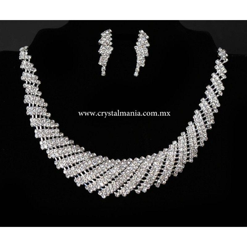 f1e6cba0ffe5 Collares Aretes joyería cristal bisuteria moda accesorios dama 2017