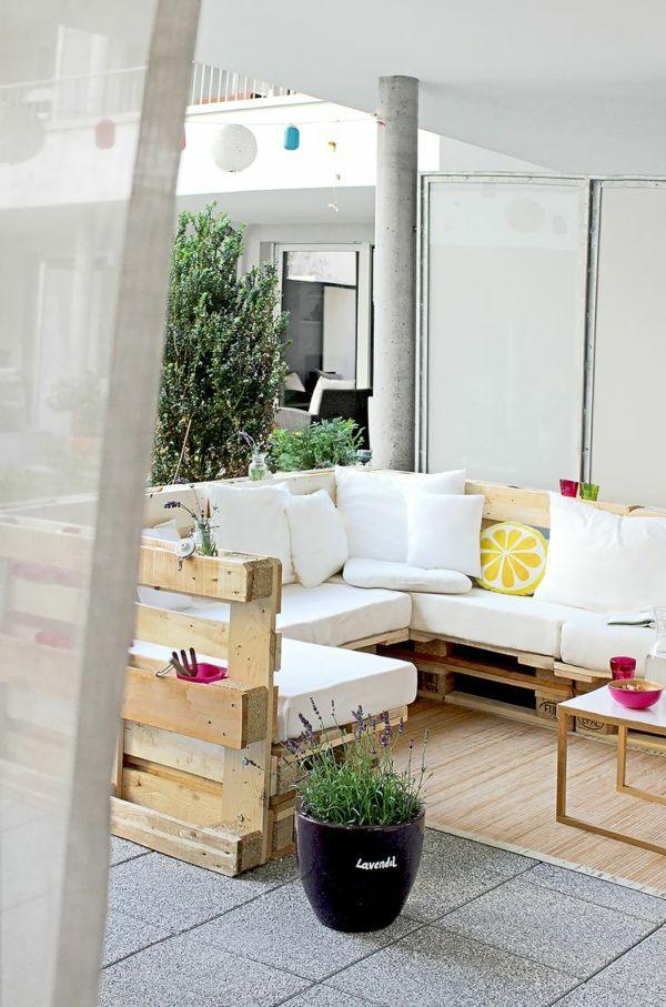 Gartenmöbel aus Paletten selber bauen und den Außenbereich - lounge gartenmobel gunstig