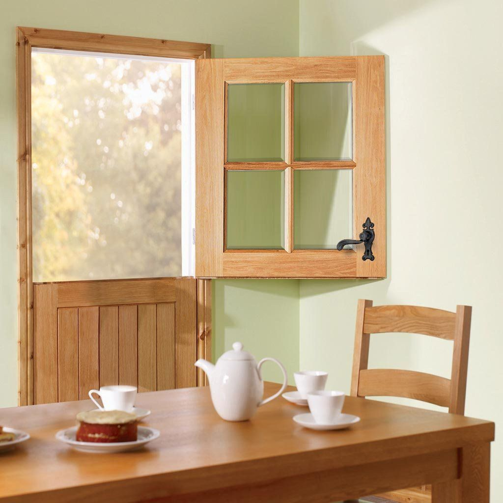 Cottage Stable 4L External Oak Door with Clear Double Glazing ...