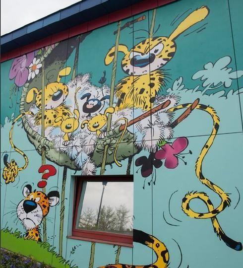 Bruselas A Gople De Vineta Marsupilami Street Art Murals