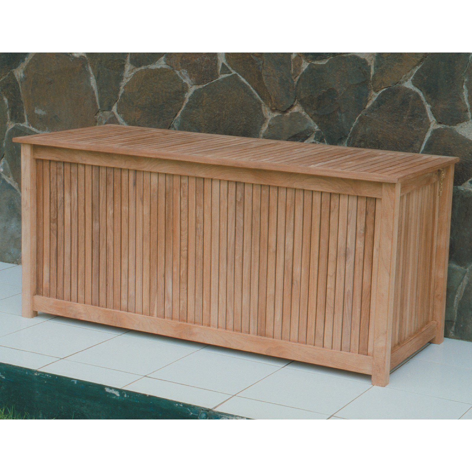 Storage Deck Box   Patios And Pool Decks Tend To Get Cluttered. Luckily,  The Royal Teak 53 In. Storage Deck Box Is Here To Help You Get Organized. Part 98