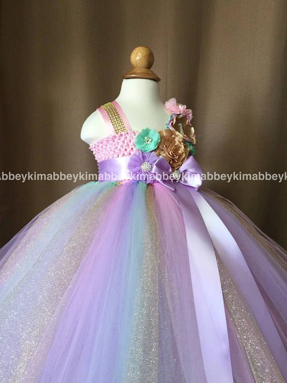 beautiful unicorn theme tutu dress in pastel colors with a  27b023472d48