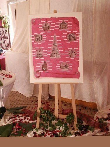 Idée déco Plan de table - Kekel71 thème:paris | loisirs creatifs ...