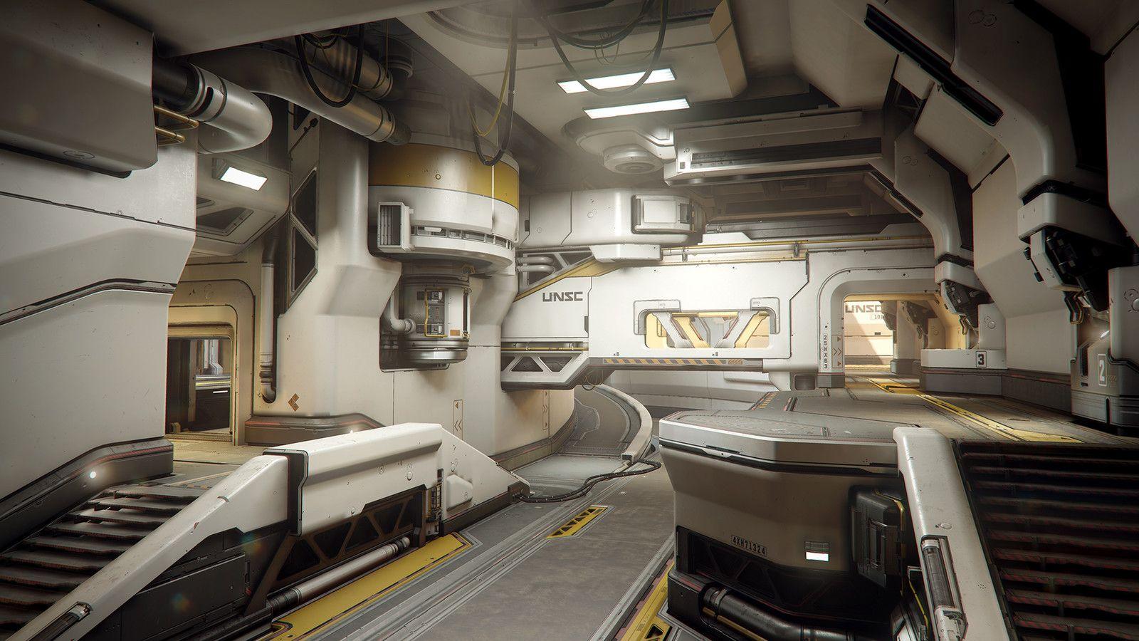 pingl par bruno morin sur 3d environments futuristic art spaceship interior et environment. Black Bedroom Furniture Sets. Home Design Ideas