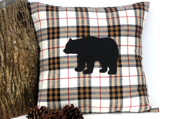 Stay Wild Plaid Moose Pillow Cover