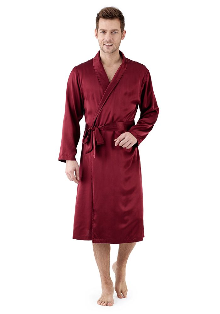 4097ff9d66 Silk men nightwear robes--Date-Red robes  Silk  robes