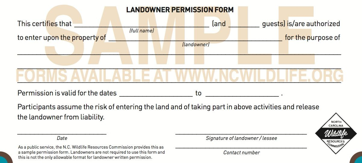 Image result for hunting permission slip sample permits Pinterest - copy certificate of good standing maryland