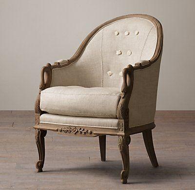 Barrelback Swan Chair Swan Chair Chair Tufted Dining Chairs