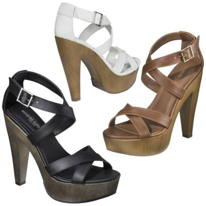 626e6c41e05 Womens Mossimo Supply Co. Wandy Wood Heeled Strappy Sandal - Assorted Colors