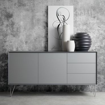 sideboard jerrell i matt grau diy m bel in 2019. Black Bedroom Furniture Sets. Home Design Ideas
